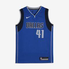 1359f5d1e8e Dirk Nowitzki Dallas Mavericks Nike Icon Edition Swingman Big Kids  NBA  Jersey Size XL (