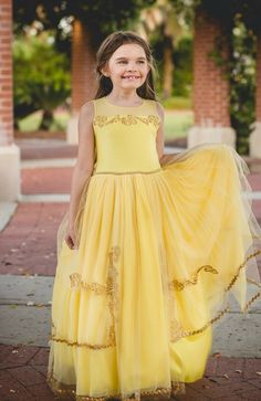 """Yes..I'm Golden"" Girl's Princess Dress – Bailey and Ava"