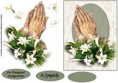 Praying hands and lilies sympathy 2 decoupage