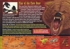 Name: Cave Bear Category: Monsters of the Past Card Number: 113 Front: Cave Bear Monsters of the Past Card 113 front Back: Cave Bear Monsters of the Past Card 113 back Trading Card: Prehistoric Creatures, Mythological Creatures, Cave Bear, Mysteries Of The World, Wild Creatures, Cryptozoology, Animal Cards, Fossils, Archaeology