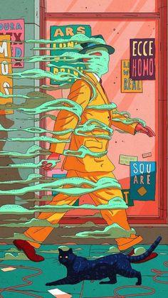 Freedom on behance pop art wallpaper, illustration story, freedom drawing, freedom artwork, Psychedelic Art, Art Et Illustration, Illustrations, Character Art, Character Design, Acid Art, Pop Art Wallpaper, Stoner Art, Dope Art