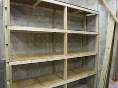 DIY Home storage shelves.
