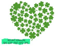 Heart of Shamrocks St Patrick's Day SVG, St Patrick's Day shirt, Clover Heart, cut file, silhouette St Patricks Day Pictures, St Patricks Day Quotes, Happy St Patricks Day, Saint Patricks, St Patrick's Day Decorations, St Patrick Day Shirts, St Paddys Day, Luck Of The Irish, Tags