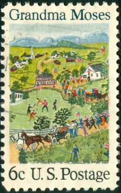Grandma Moses Stamp