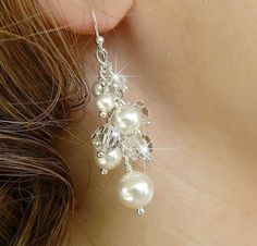 Pearl earrings- make these yourself