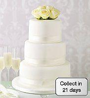 Elegant Round Wedding Cake minus the flowers