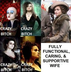 Circle the one that isn't like the others (helena bonham carter,tim burton,king's speech,alice in wonderland,sweeney todd,demon barber of fleet street,harry potter,bellatrix lestrange,queen of hearts,mrs. lovett)