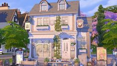 Sims 4 House Plans, Sims House Design, Casas The Sims 4, Sims 4 Build, Cute Images, Sims Cc, Paranormal, House Styles, Building
