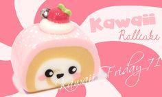 ◕‿‿◕ RollCake! Kawaii Friday 71 (Tutorial in Polymer Clay)