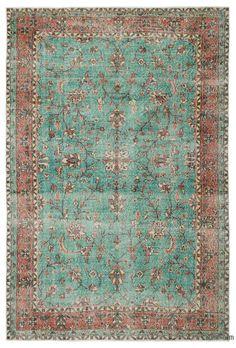 K0026571 Multicolor Turkish Vintage Rug | Kilim Rugs, Overdyed Vintage Rugs, Hand-made Turkish Rugs, Patchwork Carpets by Kilim.com