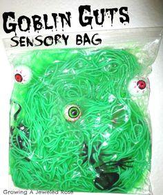 Activités d'Halloween sacs sensoriels amusantes Halloween