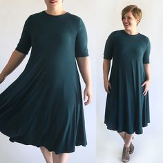 Learn how to sew a comfy swing dress with this free swing dress pattern and sewing tutorial. It's so easy you'll sew up a bunch!