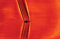 shock waves created by a supersonic T-38C jet
