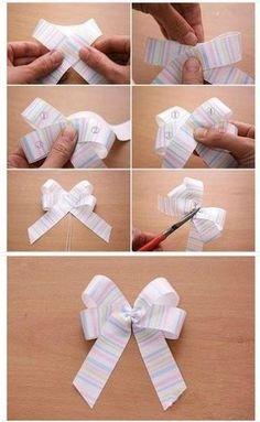 Como hacer un lazo de cinta sencillo?