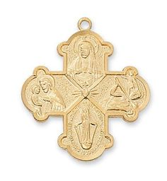 Gold over Sterling 4-way Pendant - 4-Ways - 4-Way