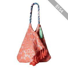 6 Shore Road by Pooja Sunset Beach Bag (Peach) Handbags