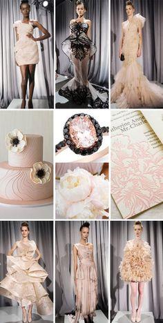 Blush Pink and Black
