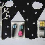 kulak-temizleme-cubuklari-ile-sanat Christmas Arts And Crafts, Holiday Crafts, Painting For Kids, Art For Kids, Creative Crafts, Diy And Crafts, Art Projects, Projects For Kids, Alphabet Crafts