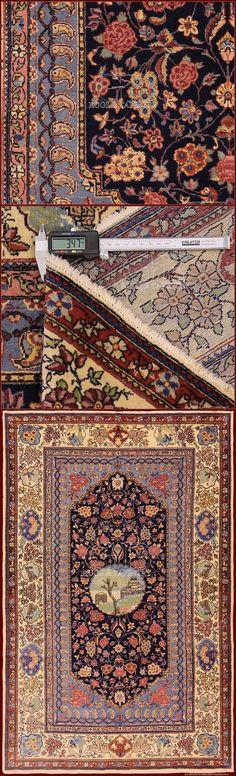 Kashan Anticocm 205 x 128ft 6'7 x 4'2 Cod:: 141406561043