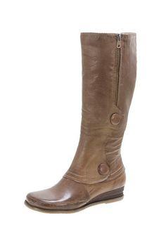 skinny wedge boot