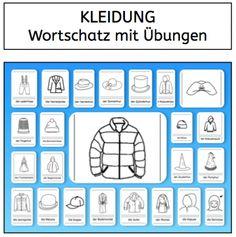 Wortschatz: Kleidung (Teil 2) - abcund123