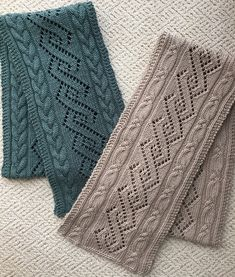 Ravelry: Coventry Cables & Lace Scarves by Donna Brooks