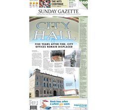 The front page of the Taunton Daily Gazette for Sunday, Aug. 16, 2015.