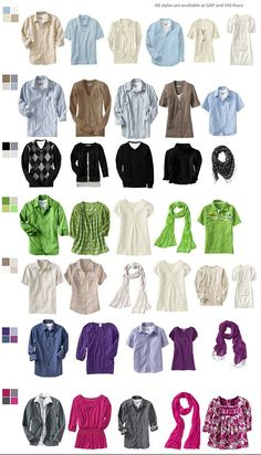 What to wear for family photos... think about colorful paint strip swatches