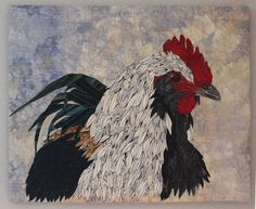 "PORTRAIT OF A ROOSTER 22"" X 18"""