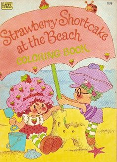 Strawberry Shortcake Coloring Book - At The Beach @ Toy-Addict.com