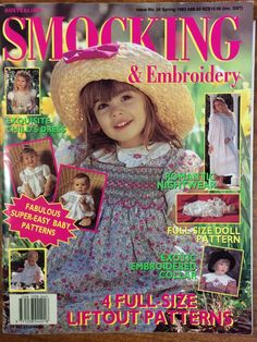 Australian Smocking & Embroidery - Issue 26 - Spring 1993 -  Rare
