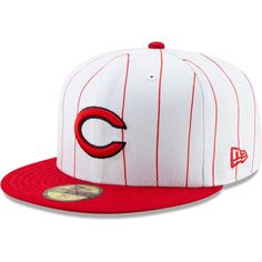 reputable site 379e8 0ce02 Men s Cincinnati Reds New Era White Red 1961 150th Anniversary Turn Back  the Clock 59FIFTY Fitted Hat