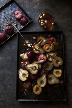 pears with caramelised nuts