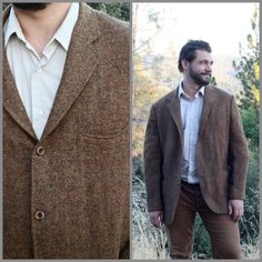 Vintage Tweed Jacket// 1930's Men's Brown by WhirlwindVintage