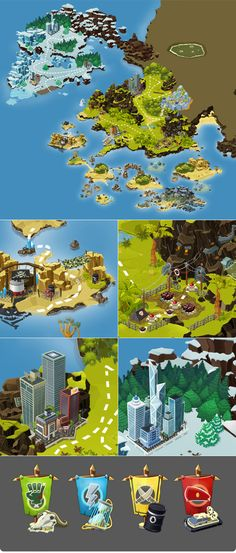 Map for «Warzonegame» on Behance