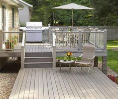 Backyard design ideas for your home. Landscaping, decks, patios, and more. Build the perfect outdoor living space Patio Deck Designs, Patio Design, Small Deck Designs, Small Decks, Small Backyard Decks, Garden Design, Small Patio, Outdoor Spaces, Outdoor Living
