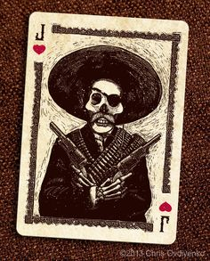 Bicycle Calaveras Playing Cards by Chris Ovdiyenko