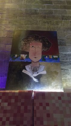 Pintura - Título: Florinda - Cód 012 - Pintura Acrílica sobre Tela - Artista: Edson Verti - Tamanho 80x100 exposta no Restaurante Yabany