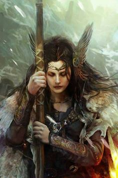 beautiful valkyrie... I love these that convey such feeling .... <3