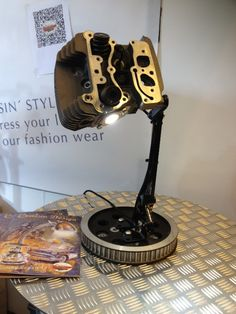 Desk lamp for petrol heads! #100design