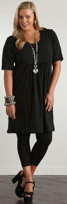 CRINKLE DRESS - Dresses - My Size, Plus Sized Women's Fashion & Clothing - Plus Size Fashion for Women