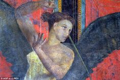 More than 80 people have worked on the Pompeii site to restore the artwork in a bid to boo...