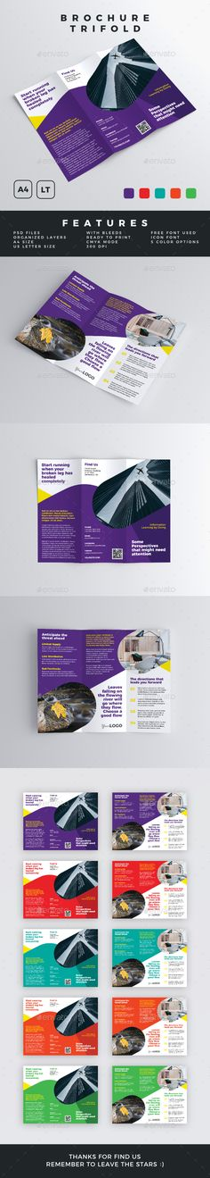 Buy Brochure - Trifold by descarteshouston on GraphicRiver. You have found a Trifold Brochure Template. With this template you will be facilitated and accelera. Business Brochure, Brochure Trifold, Brochures, Print Design, Graphic Design, Layout, Print Templates, Design Templates, Brochure Template