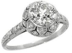 Edwardian 1.03ct Old Mine Diamond Platinum Engagement Ring