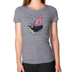 Whale Boat House Watercolours Women's T-Shirt