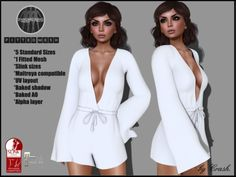8c0223b53b6388 Second Life Marketplace - byCrash Full perm mesh-Long sleeve jumpsuit Mesh  Jumpsuit, Jumpsuit