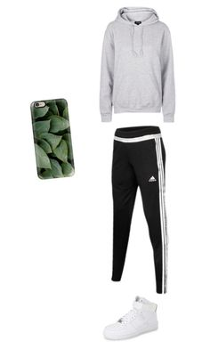 """""""Untitled #63"""" by mell-rosee ❤ liked on Polyvore featuring adidas, NIKE, Topshop and Casetify"""