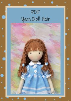 PDFhairstyle for dolls hair yarn PDF Sewing от NilaDolss на Etsy