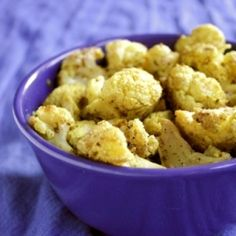 Roasted Curried Cauliflower: Sometimes I crave simplicity. Nothing too crazy here, just four ingredients and a hot oven. Vegan & gluten-free