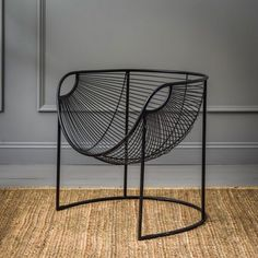 Mulberry Leaf Lounger In Black | Armchairs | Graham & Green